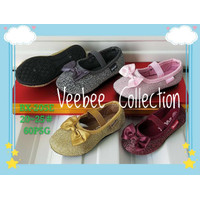 Sepatu balet gliter anak perempuan/ sepatu ceper anak cewek/ flatshoes