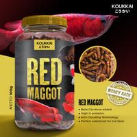 Red Maggot with Beta-carotene KOUKKAI Pakan Ikan Predator / Makanan Ik
