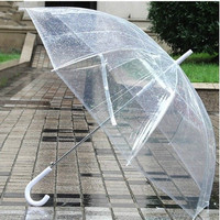 Payung Hujan Bening Transparan Polos Jepang japan Plastik Mini Unik
