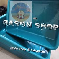 Baskom kotak besar warna/Bak plastik segi warna besar/Baskom segi (L)