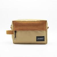 Journey Bag - Athena Khaki Gadget Organizer Pouch Dopp Kit Hand Bag