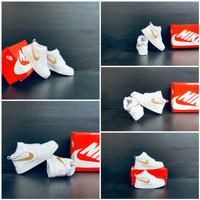 Sepatu Anak Anak Nike Air Jordan Mid White/Gold Limited Edition