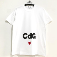 Comme Des Garcons Play X Cdg T-shirt White 100% Original