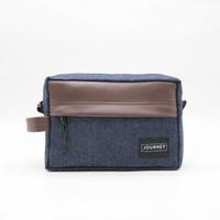 Hand Bag Travel Pouch Journey Athena Denim Dopp Kit