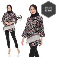 blouse wanita lengan panjang batik