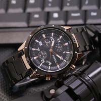 Jam tangan pria fossil rantai chrono variasi