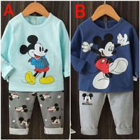 Piyama Katun / Baju Tidur Anak laki-laki Mickey Mouse 4thn - 6thn