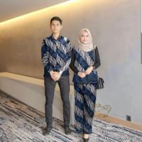 couple delon navy baju pasangan sarimbit batik harga sepasang del at