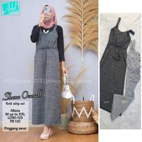 Baju Terusan Wanita Muslim Longdress Shema Overal Maxy Adel