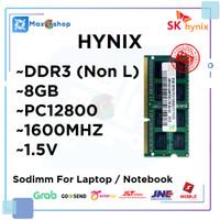 RAM LAPTOP DDR3 8GB HYNIX PC3-12800 1.5V (Non L) DDR 3 8 GB SODIMM ORI