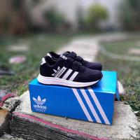 Sepatu Adidas Neo City Junior Kids / Anak Baby Kets Laki Black White