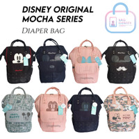 Tas Mickey Disney Original Import Mocha Diaper Bag Backpack Bayi Kado