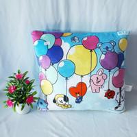 Boneka BTS BT21 Kepala Motif Balon