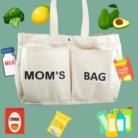 Tas belanja/grocery bag/diapers bag kanvas eco fridndly MOMS BAG