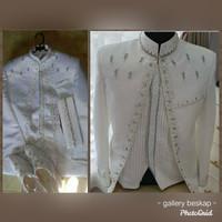 Beskap akad/ basofi akad rompi plisket / jas akad / baju akad pria