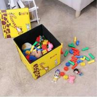 Animal Storage Box / Tempat Penyimpanan Serbaguna / Kursi Organizer - Giraffe Yellow