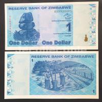 Zimbabwe P#92 1 Dollar 2009