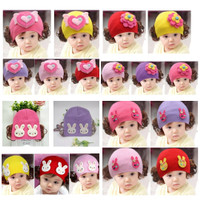 Topi Kupluk Rajut rambut palsu wig Bayi Anak Perempuan