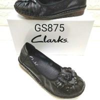 flatshoes Clarks GS875 kulit asli