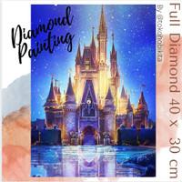 DIY DIAMOND PAINTING DISNEY CASTLE CRAFT ART MANIK