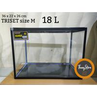 Aquarium triset nikita ukuran M - 18 liter (KHUSUS GOJEK/GRAB)