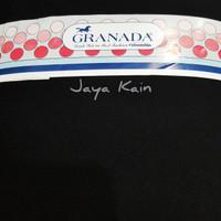 Bahan Bakal Kain hitam pekat polos merek Granada (Harga per 0.5 meter)