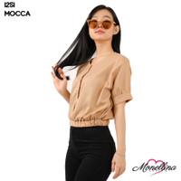 Monellina 1251 Baju Blouse Atasan Crop Murah Wanita Kekinian