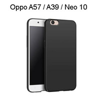 Oppo A57 / A39 / Neo 10 Casing SoftCase Black Matte