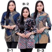 Baju Batik Wanita Blouse Seragam Kerja Z-02