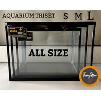 Aquarium triset all size S,M,L NIKITA STAR (KHUSUS GOJEK/GRAB)