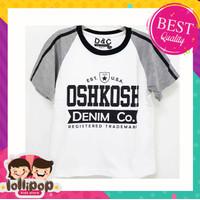 Lollipop Kids Store Kaos Anak Laki-Laki Oshkosh White Grey 1-10 Tahun - 1 tahun