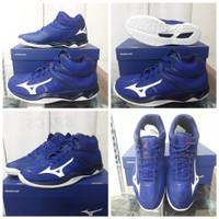 Sepatu Volly Mizuno ThunderBlade 2 Blue/Navy/White Dws