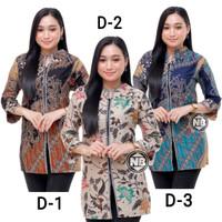 Baju Batik Wanita Blouse Seragam Kerja