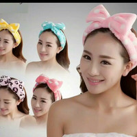 BANDO PITA bludru handuk cute hairband bandana korea