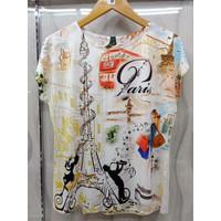 Atasan Kaos Fayola Blouse Super Jumbo T-Shirt Casual Wanita