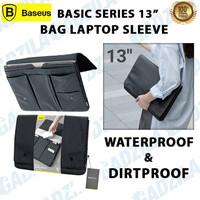 BASEUS BASIC SERIES TAS LAPTOP BAG SLEEVE CASE MACBOOK IPAD PRO 13INCH - BLACK 13INCH