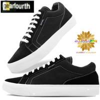 Sepatu skateboard/OS Blunt Black-White/GearFourth inspirasi Vans Old S