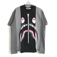 Bape Shark Multi Colors Relaxed Fit T-shirt 100% Original