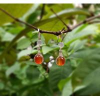 Anting batu alam carnelian/july birthstone/anting korea