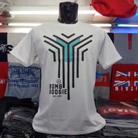 Baju grosir kaos pria BOMBOOGIE cotton combed 30s - L putih