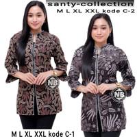 Baju Batik Wanita Blouse Fashion Seragam Kerja