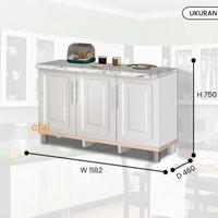 kitchen set bawah 3 pintu/ lemari dapur bawah