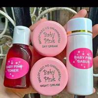 Baby pink skin care set