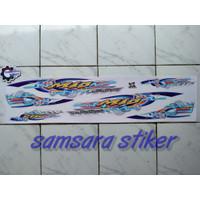 Striping stiker motor Mio Sporty Thailand Putih-Biru