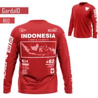 Manda Fashion - Baju Pria/Cowok Kaos Pjg Garuda Indonesia 4 Ukuran