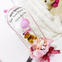 BALON BLOOM BOX VAS KARANGAN BUNGA BALLOON VAS ARTIFICIAL FLOWER
