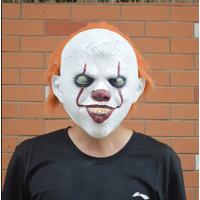 TOL-13 topeng latex karet full head kepala it badut clown pennywise