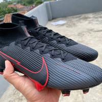 Sepatu Bola Nike Mercurial Superfly VII Lightning Black Red FG