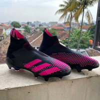 Sepatu Bola Adidas Predator 20+ Black Pink FG