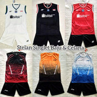 Setelan singlet baju badminton yonex lining L143 timnas china